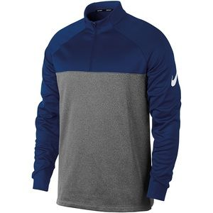 Nike Therma-fit half-zip Navy gray golf top size small